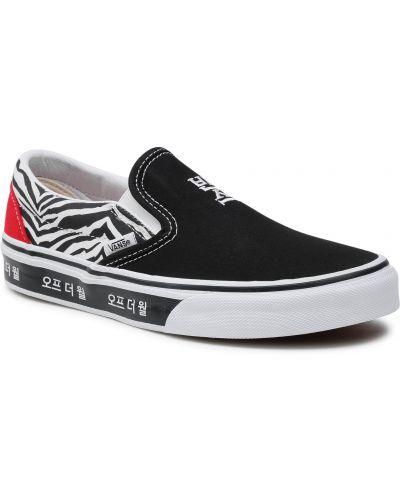 Klasyczne czarne slipy Vans