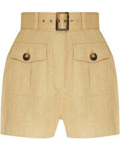Короткие шорты бежевые сафари Zimmermann