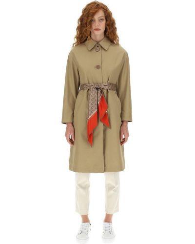 Beżowy płaszcz przeciwdeszczowy elegancki z długimi rękawami Herno