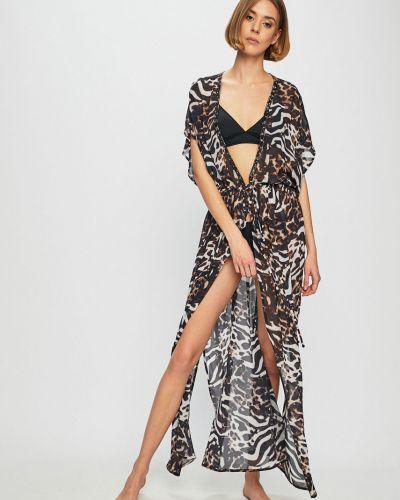Платье с V-образным вырезом - черное Pia Rossini
