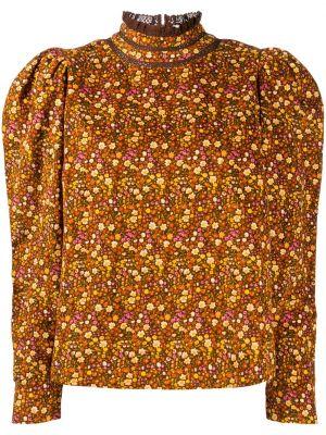 Brązowa bluzka z długimi rękawami bawełniana Bytimo
