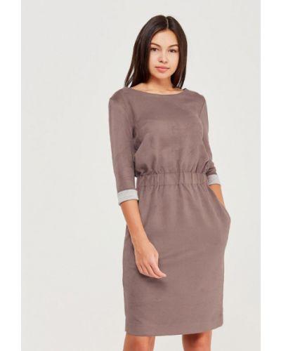Прямое бежевое платье Masha Mart