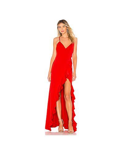 Вечернее платье с запахом на бретелях Privacy Please