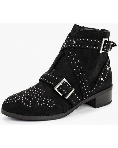 Ботинки на каблуке осенние черные Fersini