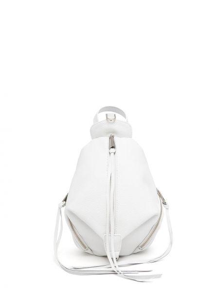 Biały plecak skórzany Rebecca Minkoff