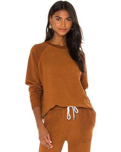 Bawełna bawełna brązowy bluza z raglanowymi rękawami Monrow