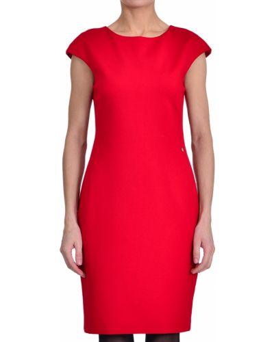 Платье из вискозы - красное Armani Jeans