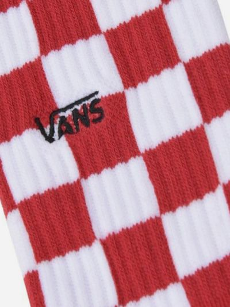 С завышенной талией хлопковые красные носки Vans