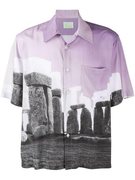 Koszula krótkie z krótkim rękawem z nadrukiem fioletowy Aries