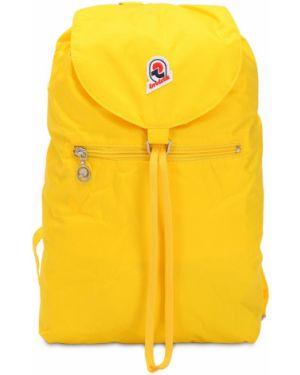 Żółty plecak z paskiem sznurowany Invicta