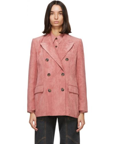 Удлиненный пиджак двубортный с подкладкой вельветовый Isabel Marant Étoile