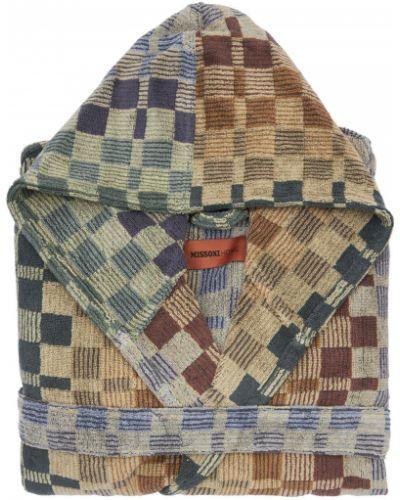 Szlafrok bawełniany z paskiem Missoni