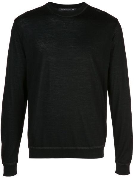 Классический черный свитер Mackintosh 0002