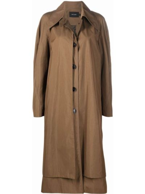 Зеленое хлопковое пальто Low Classic