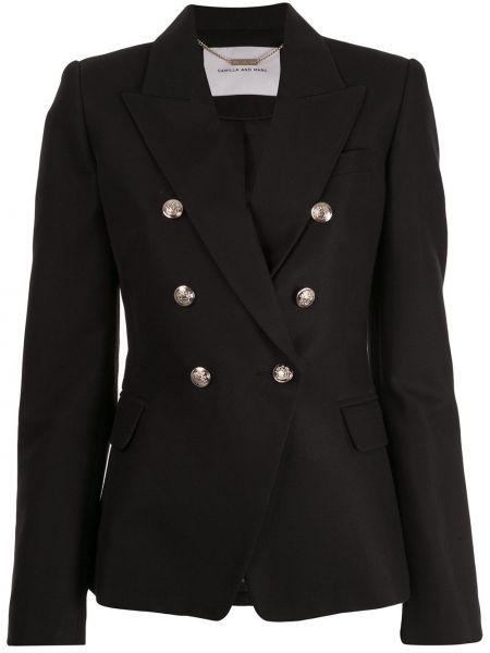 Черный удлиненный пиджак с карманами Camilla And Marc