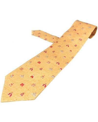 Krawat z jedwabiu - żółty Bvlgari Vintage