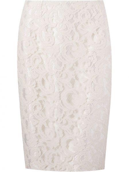 Шелковая ажурная юбка карандаш на молнии с разрезом Martha Medeiros