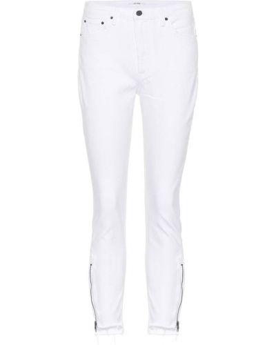 Biały zawężony bawełna bawełna obcisłe dżinsy Grlfrnd
