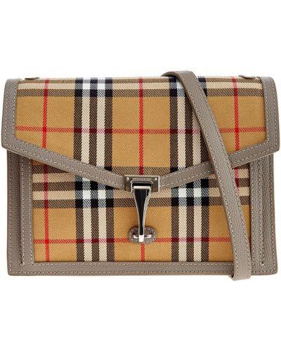 Кожаная сумка через плечо серая Burberry