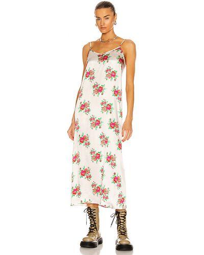 Шелковое белое джинсовое платье винтажное R13