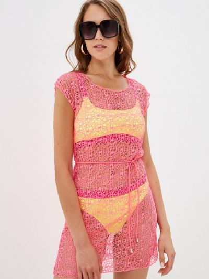 Розовое платье осеннее Winzor