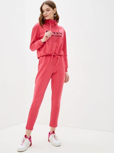 Весенний костюмный розовый спортивный костюм Trendyangel