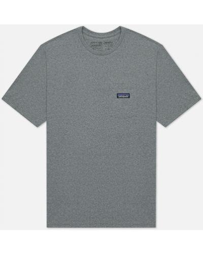 Хлопковая серая футболка с карманами Patagonia