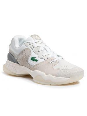 Beżowe sneakersy Lacoste