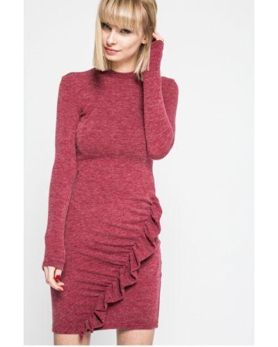 Малиновое облегающее платье мини Kiss My Dress