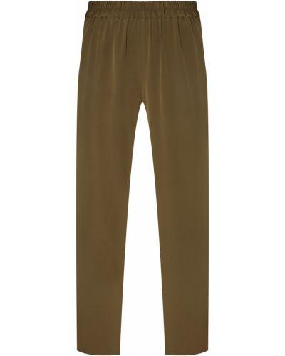 Зауженные зеленые укороченные брюки с карманами Alena Akhmadullina