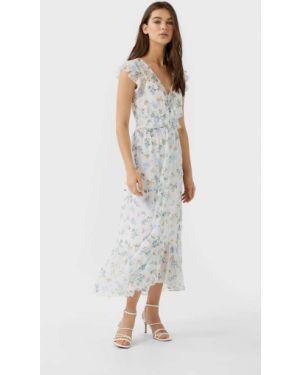 Платье миди в горошек Stradivarius