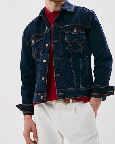 Джинсовая куртка турецкий синяя Wrangler