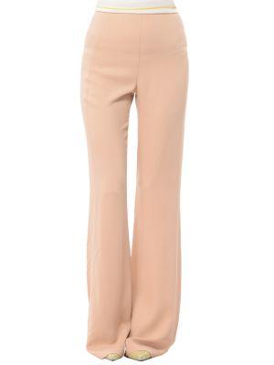 Бежевые брюки из вискозы Patrizia Pepe