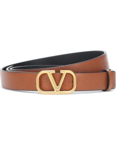 Повседневный кожаный желтый ремень с поясом Valentino Garavani
