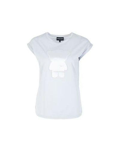 Белая футболка прямая Emporio Armani