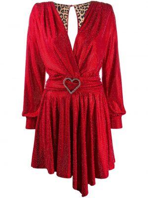 Красное платье макси с вырезом с драпировкой Philipp Plein