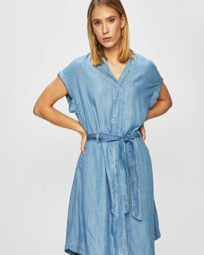 Платье с карманами - синее Mustang