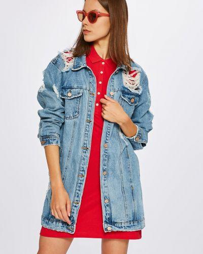 Джинсовая куртка на пуговицах облегченная Missguided