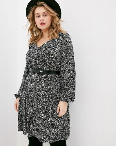 Повседневное серое платье Evans