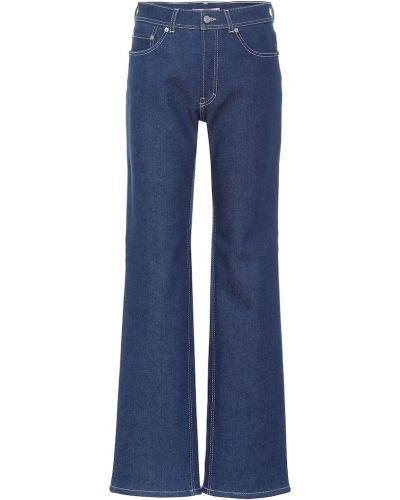 Расклешенные джинсы на флисе mom Acne Studios