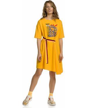 Платье макси с запахом с поясом Pelican