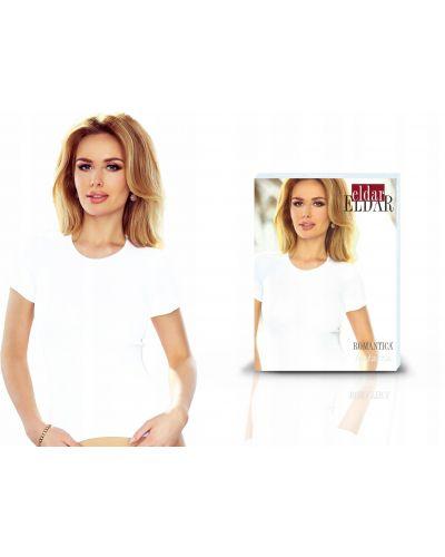 Biały t-shirt bawełniany krótki rękaw Eldar