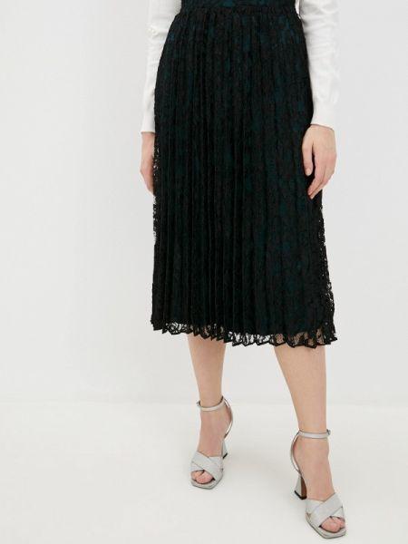 Черное плиссированное джинсовое платье Tom Tailor Denim