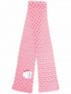 Różowy szalik wełniany Miu Miu