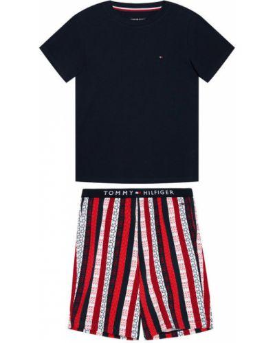 Piżama z printem granatowa Tommy Hilfiger