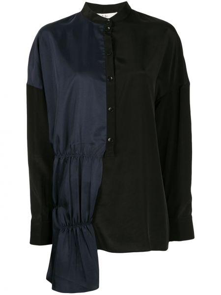 Koszula z jedwabiu - czarna Tibi