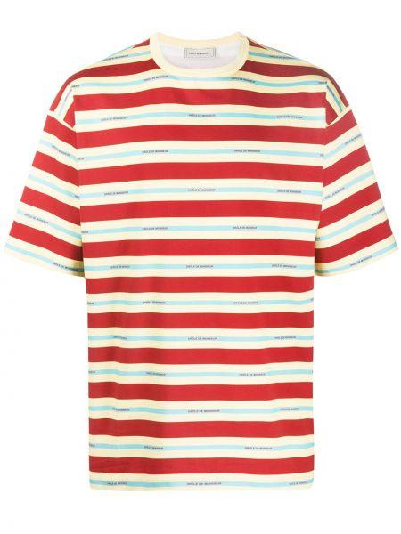 Koszula krótkie z krótkim rękawem w paski z logo Drole De Monsieur