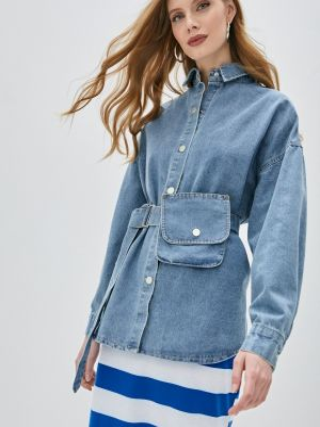 Джинсовая рубашка - синяя Marissimo