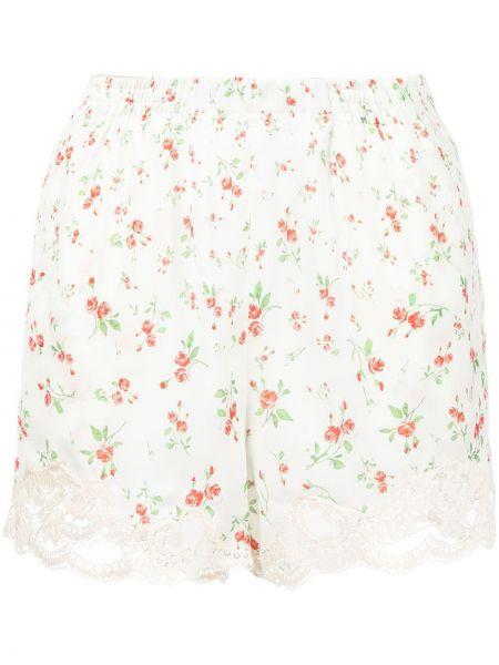 Белые шорты в цветочный принт Paco Rabanne