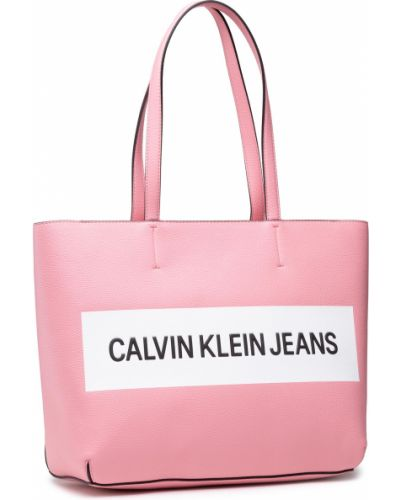 Różowa torba na zakupy Calvin Klein Jeans